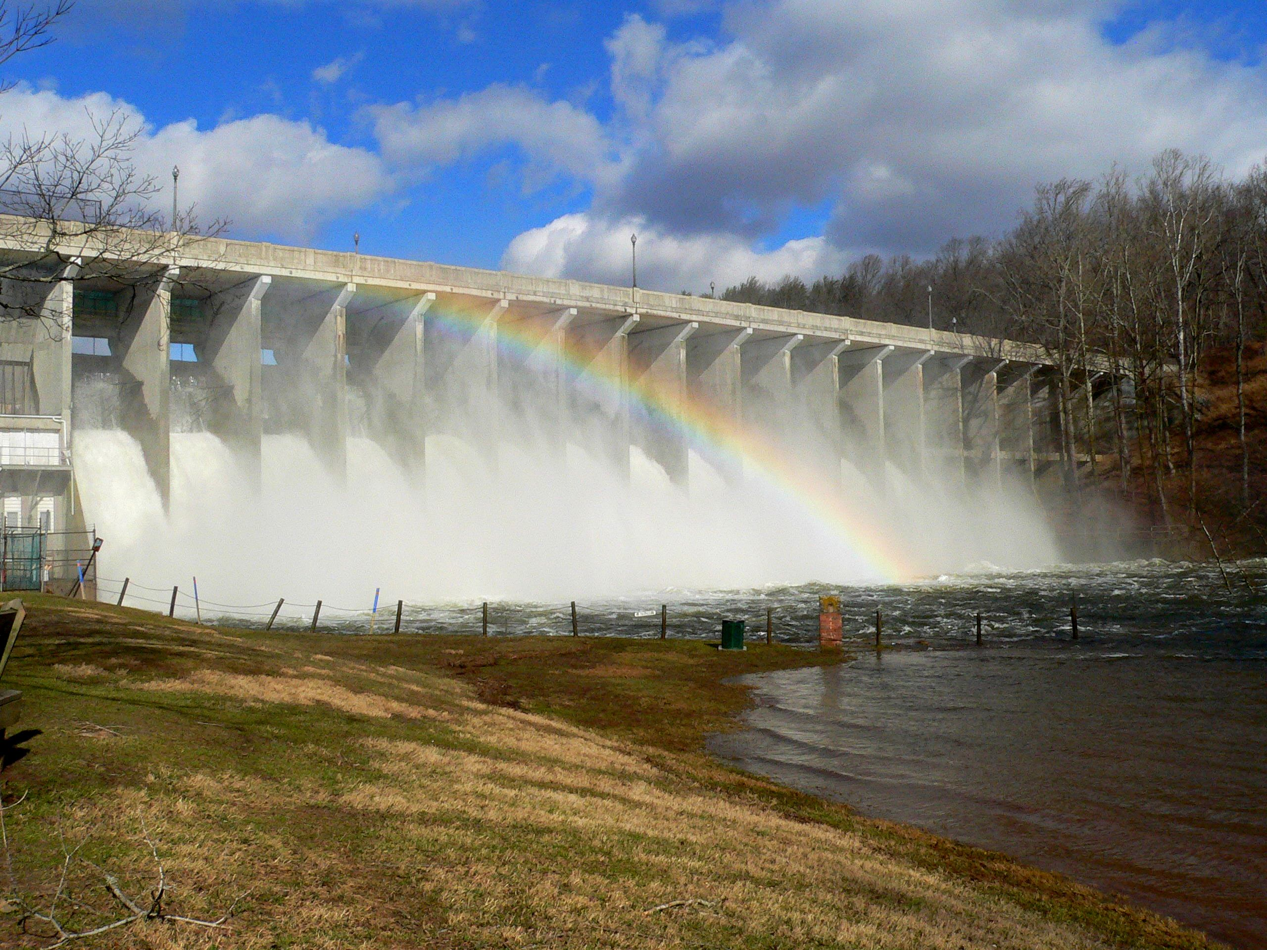 brighton dam rainbow over the gates
