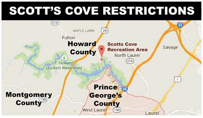 Map of Scotts Cove Restrictions