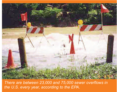 There are between 23000 and 75000 sewer overflows in the US every year, according to the EPA