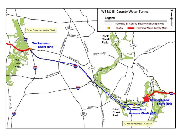 BiCounty Water Tunnel Project Map
