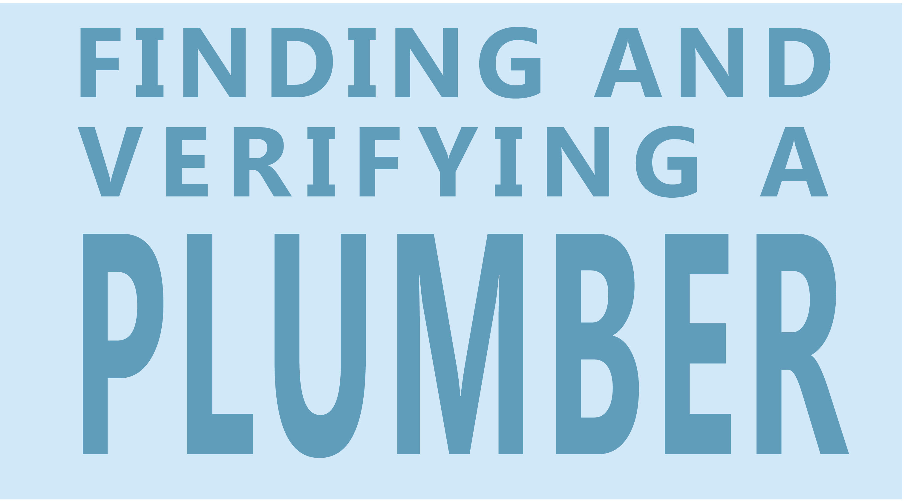 Finding And Verifying A Plumber Gasfitter